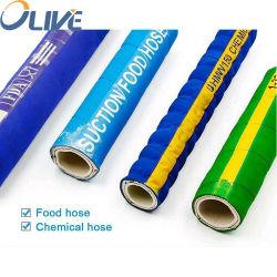 La FDA 1 1.5 3 pulgadas de grado alimentario trenzado manguera de caucho de silicona de alta temperatura