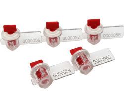 Sigillo di sicurezza in plastica di ancoraggio con logo personalizzato con vari colori