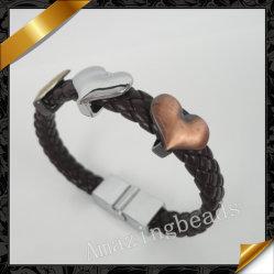 Сердце оптовые украшения, сердце валики браслет украшения, поставщиком ювелирных изделий из кожи (FB004)