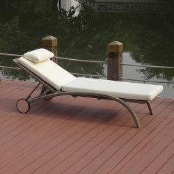 Для отдыха в саду плетеной мебели/плетеной патио Бич Бар регулируемый простое складывание плавательный бассейн с колеса