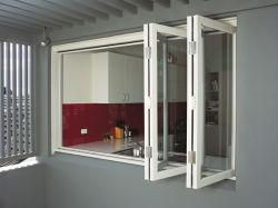Australia Ventana Bifold interna de aluminio con doble vidrio para Patio