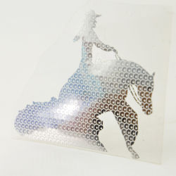 Sequin en métal brillant slivoïde Horse Film d'impression de transfert