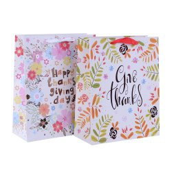 Certificado Fsc de papel de embalaje de regalo Bolsas de regalos con estampación en caliente
