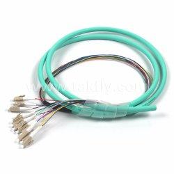 Treccia ottica della fibra del nastro colorata LC delle 12 fibre