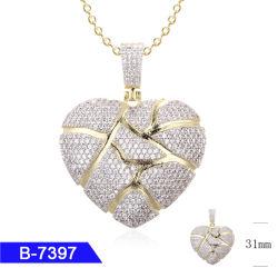 Novo Design de Moda Personalizada belas jóias 925 Sterling Silver Zircónia cúbicos pendente de coração para venda