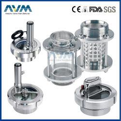 Food Grade sanitarias higiénicas de acero inoxidable Indicador de luz LED de la mirilla