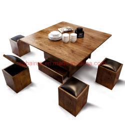 Salle de séjour Meubles en bois Table à café de fin de pliage