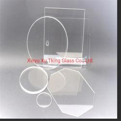 Alta Temperatura do substrato de vidro de quartzo transparente para Micro-Optics
