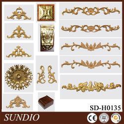 prix d'usine bois composite en plastique décoratifs de style européen de l'artisanat Fleur de Coin