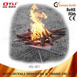 Dernière combustible solide et léger Poêles de pliage Outdoor BBQ portable Poêle à bois avec sac à dos en maille inoxydable Réchaud