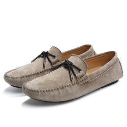 Cómoda conducción suave tumbona zapatos de cuero sintético Moccasin masculina Zapatos para hombre Calzado casual
