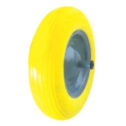 手押し車は鋼鉄縁カラーの3.50-8インチPUの泡の車輪変更することができる