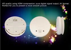 H. 264 Vision nocturne avec infrarouge CMOS de compression 8Go WiFi Caméra IP du détecteur de fumée avec système d'alarme de détection de mouvement