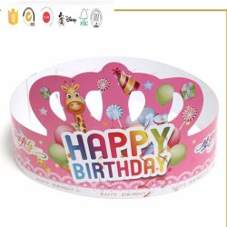 Impressão personalizada promocional personalizado Kids Crown festa de aniversário de papel HAT