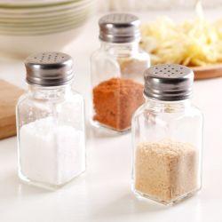 금속 뚜껑을%s 가진 100ml 유리 그릇 소금 그리고 고추 향미료 셰이커