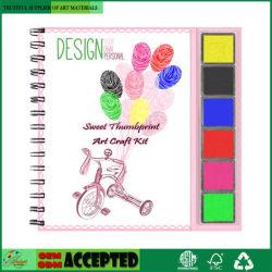 12 صفحات حلو [ثومببرينت] فن حرفة عدة [و] /Inkpad 6 لون يصنّف لأنّ جديات