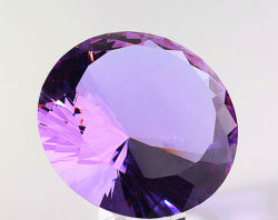 Injerto de diamantes de cristal violeta para ornamento