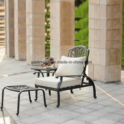 Cast Aliminum mesas y sillas muebles de piscina al aire libre