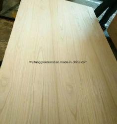 Folheado de madeira natural de contraplacado para decoração de interiores