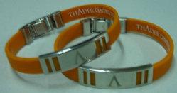 Bracelet en silicone de conception OEM pour aimants