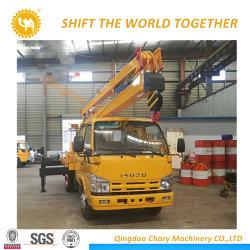4X2 Vrachtwagen Op grote hoogte van de Verrichting van de Aandrijving van Isuzu de Linker/LuchtPlatform