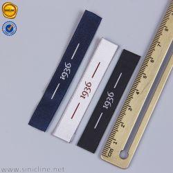 Sinicline ha personalizzato il contrassegno tessuto raso dell'indumento di marchio