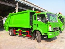 HOWO 4X2 Abfall-Verdichtungsgerät des hellen LKW-8m3