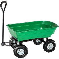 Vuelco de la familia de 4 ruedas plegable Carro Jardín