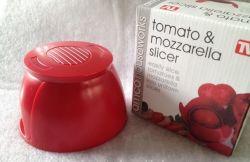Mini affettatrice di plastica della mozzarella del pomodoro (TV0164)