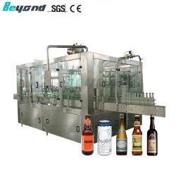 자동 액상 탄산 음료 물 유리 병 맥주 와셔 캡핑 충진 기계 생산 라인