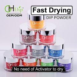 Gelous inmersión acrílico de secado rápido de color en polvo para sumergir Nail Art