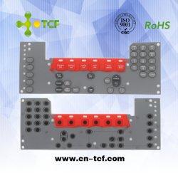 Cores da borracha de silicone P+R Teclado e condutiva do teclado na cor preta