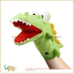 Fábrica de Brinquedos de pelúcia Soft Dinossauro Verde animais taxidermizados fantoche de mão