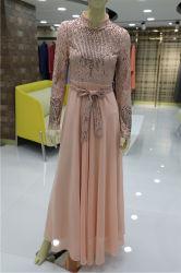 K019 conception populaire fait sur mesure de vente chaude Abaya robe en mousseline de robes fille