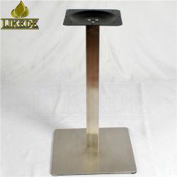 Heißer Verkaufs-preiswertes quadratisches Edelstahl-Tisch-Grundrahmen-Bein für das Speisen der Gaststätte/des Kaffees/des Kaffee/der Bistros/des Empfangs/der Sitzung/des Granit-/Eichen-Tisches
