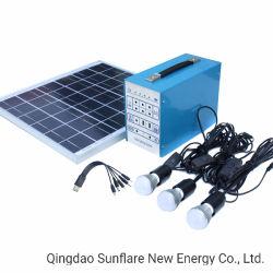 30W Accueil Système d'éclairage à énergie solaire pour aucune des zones d'électricité