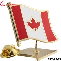 Canadá personalizada de fábrica Pavilhão Pin de lapela Emblema de Metal