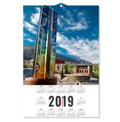 2019 Impressão Lenticular de moda para a promoção do Calendário