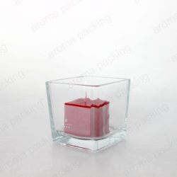 Commerce de gros pot de verre transparent de décoration de bougies