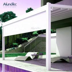 Eco Friendly piscine 4x4 auvent rétractable avec stores à rouleau