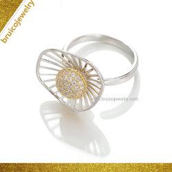 Национальной моды украшения Цветочный дизайн белого золота родий цвет Diamond кольцо для женщин