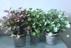 P9206-25 Arfificial Gramíneas en olla de barro para el hogar decoración de oficina