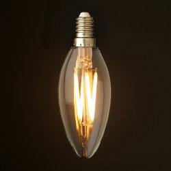 مصباح المصباح الفتيلي C35 LED 6 وات من مصباح اديسون شفاف زجاج مع RoHS CE