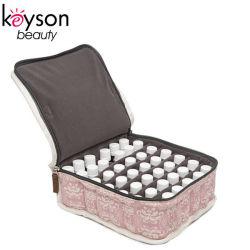 Keyson rosafarbener Reißverschluss-Baumwollgewebe-wesentliches Öl-tragender Kasten-Arbeitsweg-Beutel)