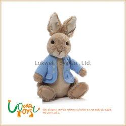 채워진 피터 토끼 견면 벨벳은 귀여운 연약한 견면 벨벳 장난감을