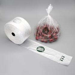 Prix de gros sac en plastique plat de couleur sur le rouleau