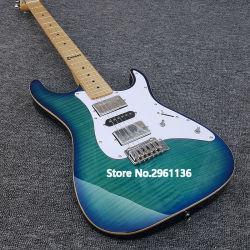 Tom Professional Guitarra artesanais, Anderson guitarra eléctrica de Cera de AlNiCo pickups, 22 Frets Tiger Striped Maple cobrir