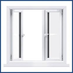Qualidade superior de plástico branco/PVC/Estrutura UPVC Segurança Vidro duplo Windows