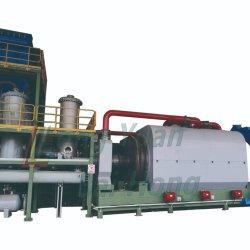 Fabricante de pneus de plástico resíduos contínuos avançados de processamento de borracha reciclagem Negro óleo fazendo máquina de pirólise de destilação de tratamento de plantas de pirólise