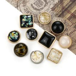 L'extrémité tige de métal de haute couture bouton Or Rose personnalisé en alliage de jeans pour vêtement bouton métallique